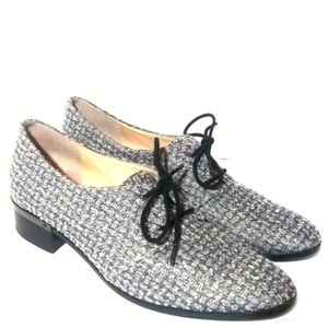 Ivanka Trump Emale Tweed Oxford Shoes